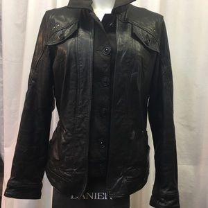 Danier Leather Moto Style Jacket EUC